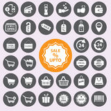 Shopping icons set. Vector/EPS10. Royalty Free Stock Photography