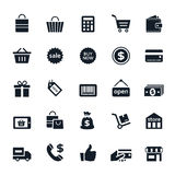 Shopping icons. Set of Shopping icons Vector illustration Stock Photography