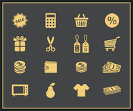Shopping icons set stock illustration