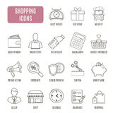 Shopping icons. Set of vector pictogram for web graphics Royalty Free Stock Images