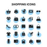 Shopping Icons Set. For web design and application interface, also useful for infographics. Vector illustration Royalty Free Stock Photography