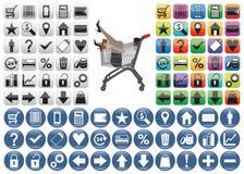 Shopping Icons set. Stock Image