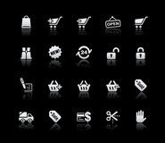 Shopping Icons // Silver Series Royalty Free Stock Photos