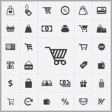Shopping icons universal set. For web and mobile Stock Photography