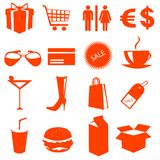 Shopping icons vector Stock Photo
