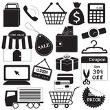 Shopping Icons Vector Collection Stock Photography