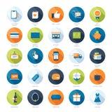 Shopping icons stock illustration