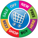 Shopping icons. Vector illustration of shopping icons Stock Photo
