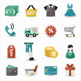 Shopping Icons Stock Image