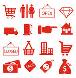 Shopping icons vector Royalty Free Stock Images