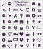 Shopping icons vector illustration Stock Image