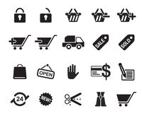 Shopping icons vector illustration Stock Images