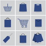 Shopping icons Stock Image