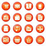 Shopping icons vector set Stock Photo