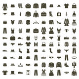 Shopping icons vector set, vector signs collection. Stock Photo