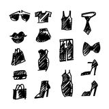 Shopping icons vector Stock Photography