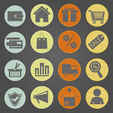 Shopping icons Vintage Stock Photo