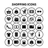 Shopping Icons. For web design and application interface, also useful for infographics. Vector illustration Stock Photo