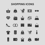 Shopping Icons. For web design and application interface, also useful for infographics. Vector illustration Royalty Free Stock Images