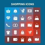 Shopping Icons. For web design and application interface, also useful for infographics. Vector illustration Stock Photos
