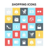 Shopping Icons. For web design and application interface, also useful for infographics. Vector illustration Royalty Free Stock Photo