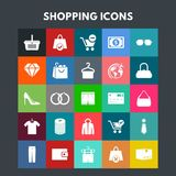 Shopping Icons. For web design and application interface, also useful for infographics. Vector illustration Royalty Free Stock Image