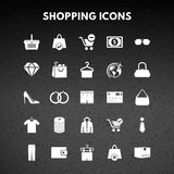 Shopping Icons. For web design and application interface, also useful for infographics. Vector illustration Stock Images
