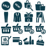 Shopping icons, Stock Image