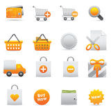 Shopping Icons | Yellow 13 Royalty Free Stock Photography