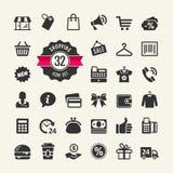 Shopping iIcon set. Shopping Vector Illustration Stock Photography