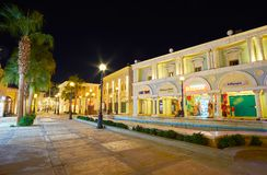 Shopping in Il Mercato quarter of Sharm El Sheikh, Egypt. SHARM EL SHEIKH, EGYPT- DECEMBER 15, 2017: Il Mercato shopping street is the best place for shopping in Royalty Free Stock Images