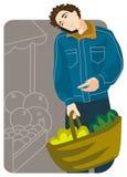 Shopping illustration series Royalty Free Stock Photos