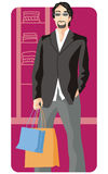 Shopping illustration series royalty free illustration