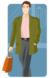 Shopping illustration series Stock Photography