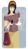 Shopping illustration series Stock Image