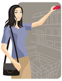 Shopping illustration series Royalty Free Stock Photography