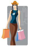 Shopping illustration series Stock Image