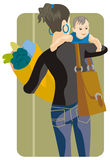 Shopping illustration series Royalty Free Stock Image