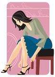 Shopping illustration series Royalty Free Stock Images