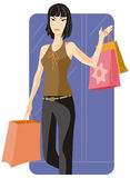 Shopping illustration series Royalty Free Stock Photo