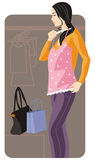 Shopping illustration series Royalty Free Stock Photos