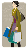 Shopping illustration series Stock Photo