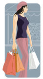 Shopping illustration series Stock Photos