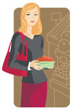 Shopping illustration series Stock Images