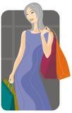 Shopping illustration series Stock Photos