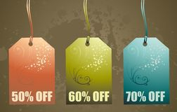 Shopping image illustration. Shopping paper tags,vector illustration Stock Photography