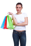 Shopping impatiently Stock Images