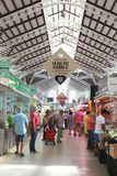 Shopping in the Central Market in Art Nouveau style, Valencia, Spain Stock Photography