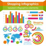 Shopping infographic set Stock Images