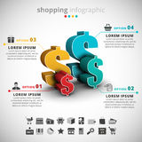 Shopping Infographic Royalty Free Stock Photos